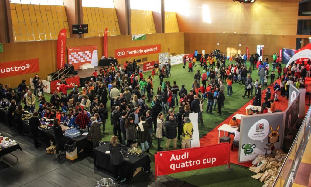 Fiesta Audi quattro Cup en polideportivo Alp